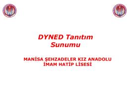 DYNED` in AMACI NEDİR? - Manisa Kız Anadolu İmam Hatip Lisesi