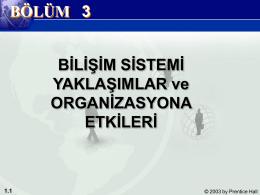 Yönetim Bilişim Sistemleri Bölüm 1 Bilişim ve İş Dünyası 1.4