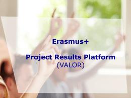 Erasmus+ Proje Sonuçları Platformu Sunum
