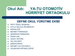 defne - Ya-Tu Otomotiv Hürriyet Ortaokulu