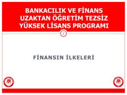 Finansın İlkeleri Ders Sunumu 4