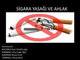 Sigara Yasağı ve Ahlak