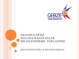 2015-2016 Kazananlar Sunumu