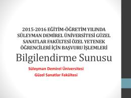 Başvuru Yardım Sunusu - Süleyman Demirel Üniversitesi