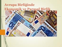 6. AB Ekonomik ve Parasal Birlik