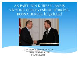 Saraybosna Sunum - Uluslararası Politika Akademisi – (UPA)