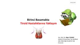 TSH - Atatürk Üniversitesi Tıp Fakültesi Aile Hekimliği AD