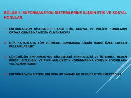 enformansyon sistemleri ve etik