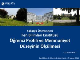 Ders Memnuniyet Anketleri - FenBilKon7 :: Mersin Üniversitesi