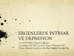 Ergenlerde Depresyon ve İntihar