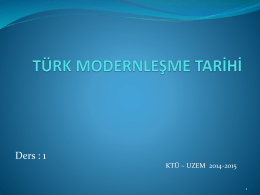 Türk Modernleşme Tarihi