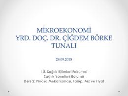 talep edilen miktar - Dr. Cigdem Borke Tunali