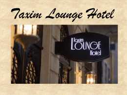 Taxim Lounge Hotel (pdf)