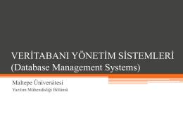 veri modeli - Maltepe Üniversitesi
