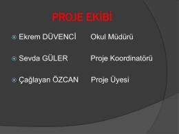 Proje Ekibi - BURSA - OSMANGAZİ