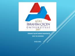 PowerPoint Sunusu - Ağrı İbrahim Çeçen Üniversitesi