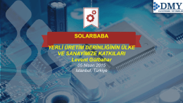 Sunum - Güneş Enerjisi Konferansı