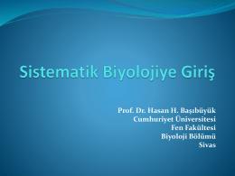DERS 1: Sistematik Biyoloji - Taksonomi Yaz Okulu