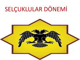 İslam Tarihi 2 Lisans-YL Selcuklular Donemi