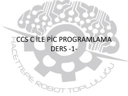 TEMEL ELEKTRON*K -1- - Hacettepe Üniversitesi Robot Topluluğu