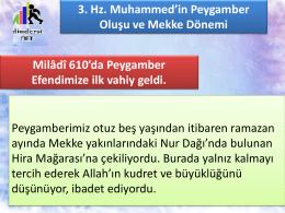 3. Hz. Muhammed`in Peygamber Oluşu ve Mekke Dönemi
