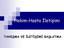 III Tanisma ve iletisimi baslatma-2015