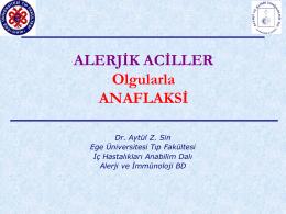 Alerjik aciller - Ege Üniversitesi Tıp Fakültesi