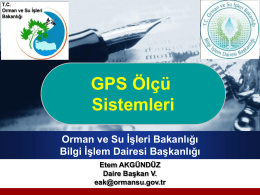 Koordinat Sistemleri - Orman ve Su İşleri Bakanlığı