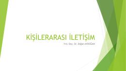 KİŞİLERARASI İLETİŞİM 4. hafta
