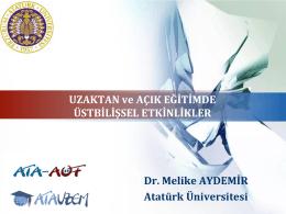 Uzaktan ve açık eğitimde içerikler - AtademiX