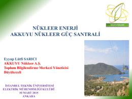 Nükleer enerji – Eyyüp Lütfü Sarıcı