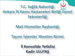 KBS - Ankara İli 2. Bölge Kamu Hastaneleri Birliği Genel Sekreterliği