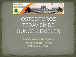osteoporoz tedav*s*nde güncellemeler