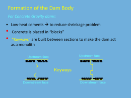 For Concrete Gravity dams