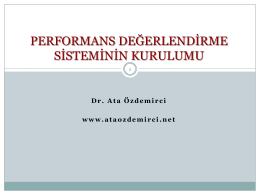 Performans Yönetim Sisteminin Kurulumu