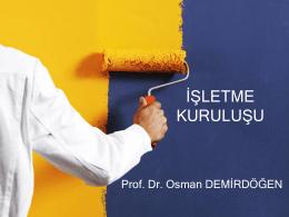 **LETME KURULU*U - Prof. Dr. Osman DEMİRDÖĞEN