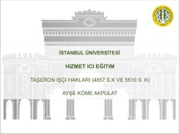 27 Nisan 2015 Tarihinde Düzenlenen Taşeron