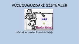 DESTEK VE HAREKET SİSTEMİ