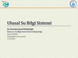 USBS Ulusal Su Bilgi Sistemi