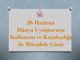 Sunum için tıklayınız.... - Ankara İl Sağlık Müdürlüğü