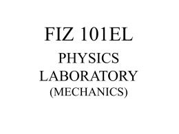 Oryantasyon Sunumu - itü | fizik mühendisliği
