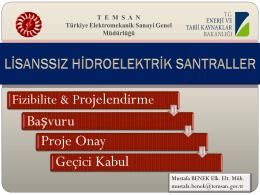 Mustafa Benek SUNUM - elektrik tesislerinin proje onay ve kabul
