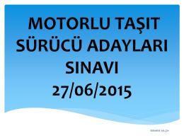 (27/06/2015) I - Özel Özdamla Esenyurt Meydan Src & Psikoteknik