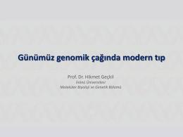 Günümüz genomik çağında modern tıp