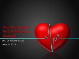 Kalp Yetmezliginde Ileri Ultrafiltrasyon Secenegi