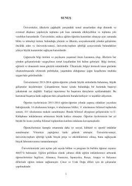 SUNUŞ - Dumlupınar Üniversitesi