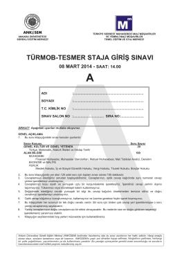 türmob-tesmer staja giriş sınavı