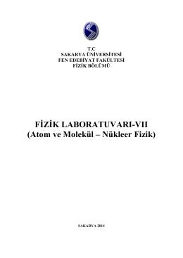 FİZİK LABORATUVARI-VII - Emre TABAR