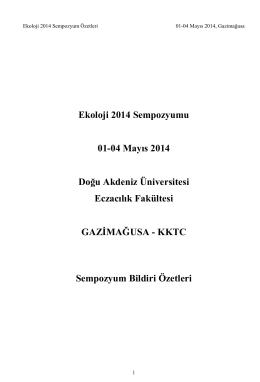 ekoloji 2014 bildiri özeti kitabı