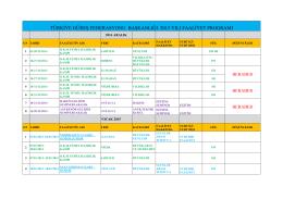 türkiye güreş federasyonu başkanlığı 2015 yılı faaliyet programı